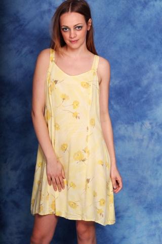 Vintage żółta sukienka w...