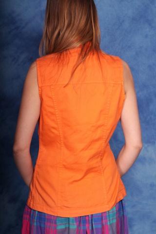 Vintage jeans orange top...
