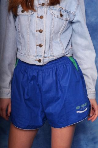 Vintage sportowe niebieskie...