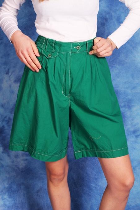 Vintage zielone szorty z...