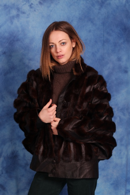 Vintage skórzana kurtka z...