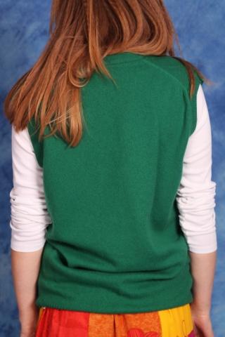 Vintage zielona wełniana...