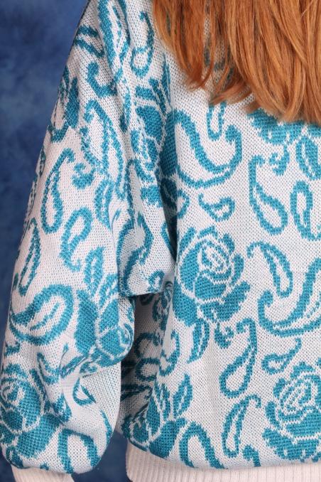 Vintage biało-niebieski...
