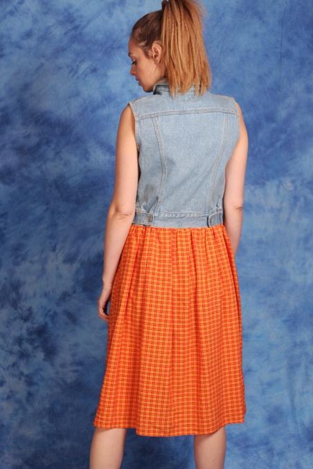 Vintage sukienka jeansowa...