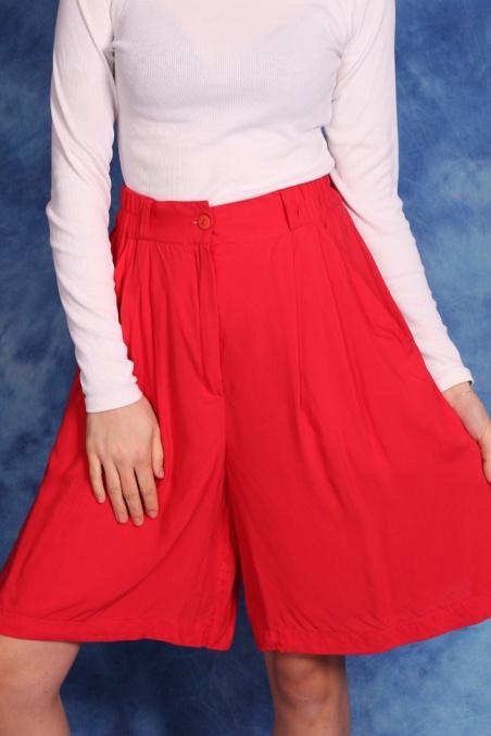 Vintage czerwone szorty z...